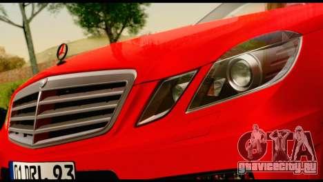 Mercedes-Benz E250 для GTA San Andreas вид справа