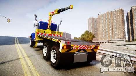 HVY Biff Indonesian Jasamarga Tow Truck [ELS] для GTA 4 вид сзади слева