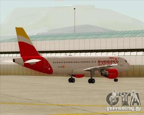 Airbus A320-200 Iberia Express для GTA San Andreas вид изнутри