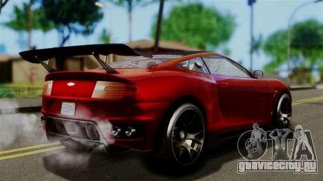 GTA 5 Dewbauchee Massacro Racecar (IVF) для GTA San Andreas вид слева