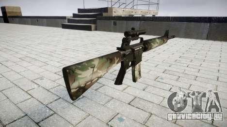 Винтовка M16A2 [optical] woodland для GTA 4 второй скриншот