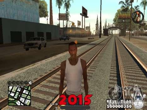CLEO HUD New Year 2015 для GTA San Andreas