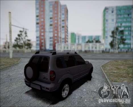 Chevrolet Niva для GTA San Andreas вид сзади слева
