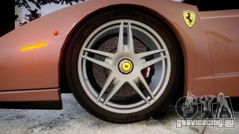 Ferrari Enzo 2002 [EPM] для GTA 4 вид сзади