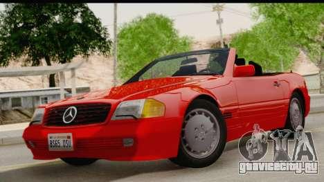 Mercedes-Benz 500SL R129 1992 для GTA San Andreas вид сзади слева