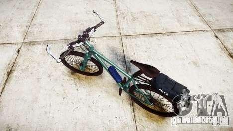 Полицейский горный велосипед [ELS] для GTA 4 вид сзади слева