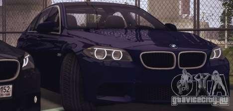 BMW M550d 2014 для GTA San Andreas вид сзади слева