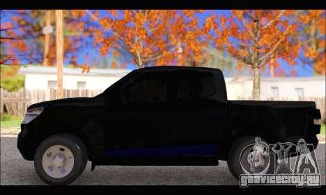 Chevrolet S10 LS 2014 для GTA San Andreas вид слева