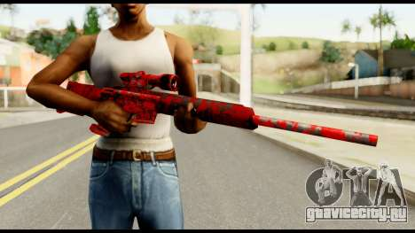 Sniper Rifle with Blood для GTA San Andreas третий скриншот