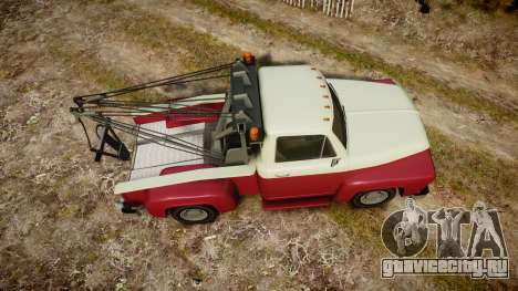 Vapid Towtruck Restored stripeless tires для GTA 4 вид справа