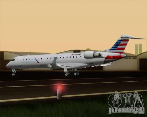 Bombardier CRJ700 American Eagle Airlines для GTA San Andreas салон
