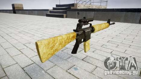 Винтовка M16A2 [optical] gold для GTA 4 второй скриншот