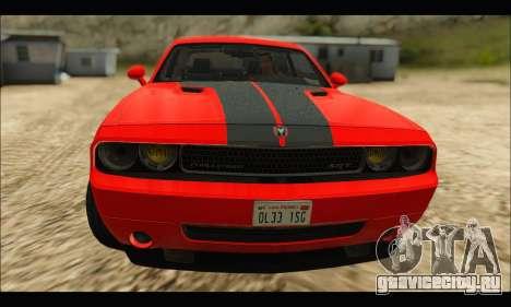Dodge Challenger SRT-8 2010 v2.0 для GTA San Andreas вид слева