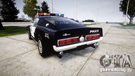 Ford Shelby GT500 Eleanor Police [ELS] для GTA 4 вид сзади слева