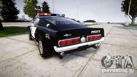Ford Shelby GT500 Eleanor Police [ELS] для GTA 4 вид сзади слева