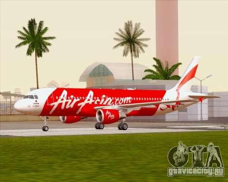 Airbus A320-200 Air Asia Japan для GTA San Andreas вид изнутри