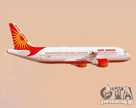Airbus A320-200 Air India для GTA San Andreas колёса