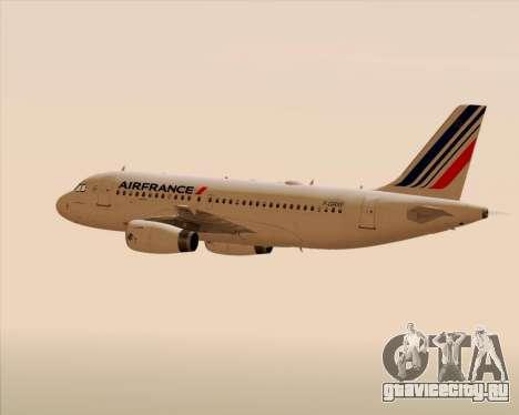 Airbus A319-100 Air France для GTA San Andreas двигатель