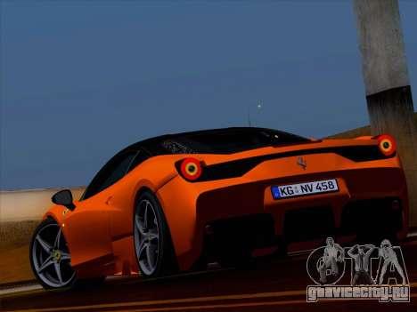 Ferrari 458 Special для GTA San Andreas вид слева