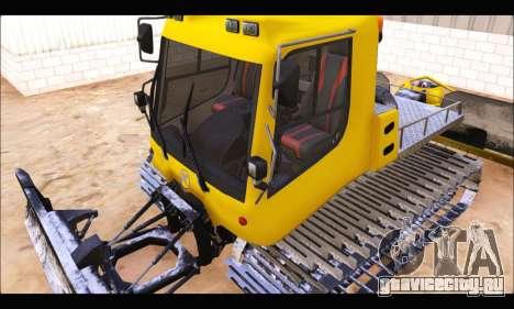 PistenBully 100L для GTA San Andreas вид изнутри