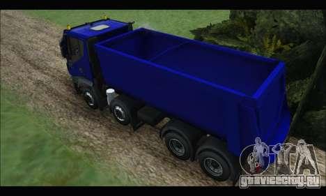 Iveco Trakker 2014 Tipper для GTA San Andreas вид сзади