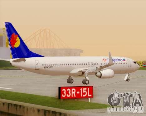Boeing 737-800 Air Philippines для GTA San Andreas вид снизу