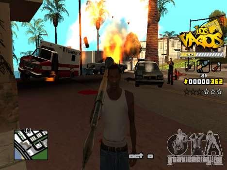 C-HUD Los Santos Vagos Gang для GTA San Andreas шестой скриншот