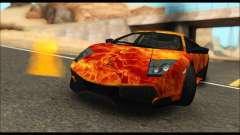 Lamborghini Murcielago In Flames