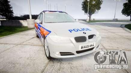BMW 325d E91 2009 Metropolitan Police [ELS] для GTA 4
