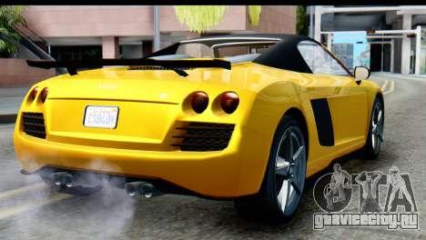 GTA 5 Obey 9F Cabrio IVF для GTA San Andreas вид слева