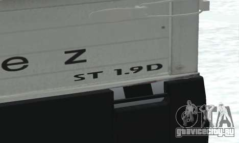 Daewoo FSO Polonez Truck Plus ST 1.9 D 2000 для GTA San Andreas вид изнутри
