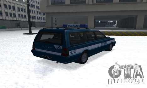Daewoo-FSO Polonez Kombi 1.6 GSI Police 2000 для GTA San Andreas вид сзади слева