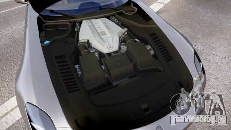 Mersedes-Benz SLS AMG 2010 для GTA 4 вид изнутри