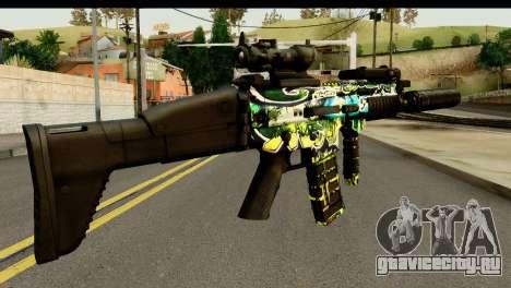 Grafiti M4 для GTA San Andreas второй скриншот