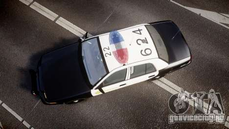 Ford Crown Victoria 2011 LASD [ELS] для GTA 4 вид справа