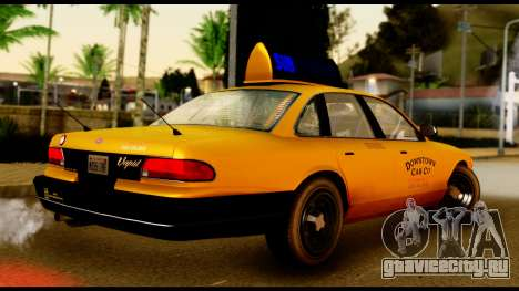 GTA 4 Vapid Stanier Downtown Cab для GTA San Andreas вид сзади слева