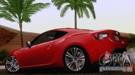 Toyota GT86 (ZN6) 2012 для GTA San Andreas вид слева