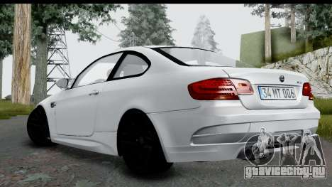 BMW M3 E92 Hamann Edition для GTA San Andreas вид слева