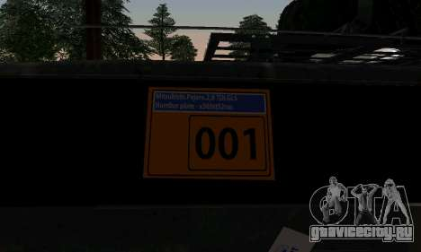 Mitsubishi Pajero Off-Road для GTA San Andreas вид сзади