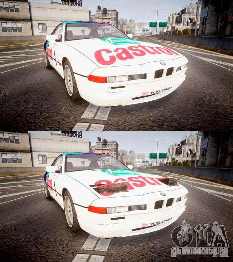 BMW E31 850CSi 1995 [EPM] Castrol White для GTA 4 вид сбоку