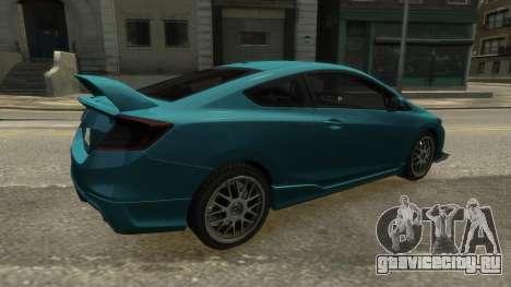 Honda Civic Si 2013 v1.0 для GTA 4 вид слева