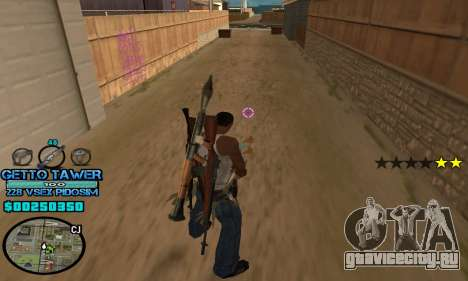 C-HUD Ghetto by Inovator для GTA San Andreas