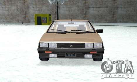 Renault 11 Turbo Phase I 1984 для GTA San Andreas вид справа