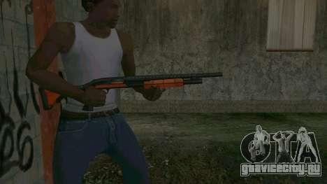 Orange Shotgun для GTA San Andreas третий скриншот