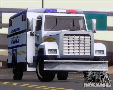 Enforcer Metropolitan Police для GTA San Andreas вид изнутри