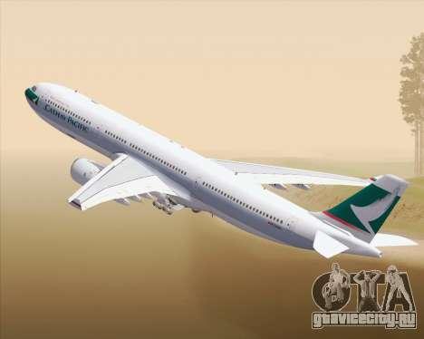 Airbus A330-300 Cathay Pacific для GTA San Andreas вид сверху