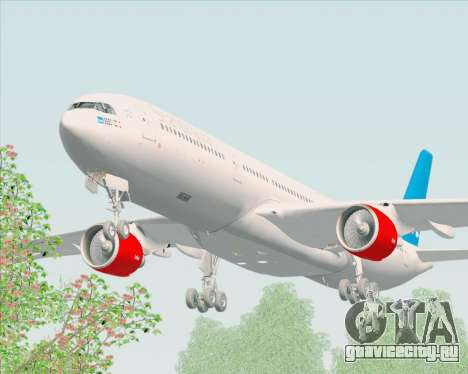 Airbus A330-300 Scandinavian Airlines для GTA San Andreas вид изнутри