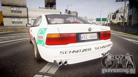BMW E31 850CSi 1995 [EPM] Castrol White для GTA 4 вид сзади слева