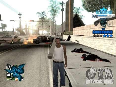 C-HUD Blek-Pro Diamond для GTA San Andreas