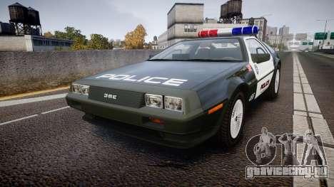DeLorean DMC-12 [Final] Police для GTA 4
